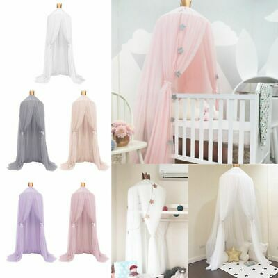 Kid Baby Bed Canopy Bedcover Mosquito Net Curtain Bedding Round Dome Tent Cotton