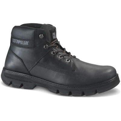 27a51cbfed083d P723262 Caterpillar Situate Mens Leather Cat Black Ankle Boots MRP £115.00