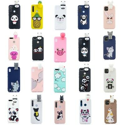 3D Cartoon Soft Silicone Cover Case For Huawei Y6 Y7 Y9 P Smart 2019 Honor 8A