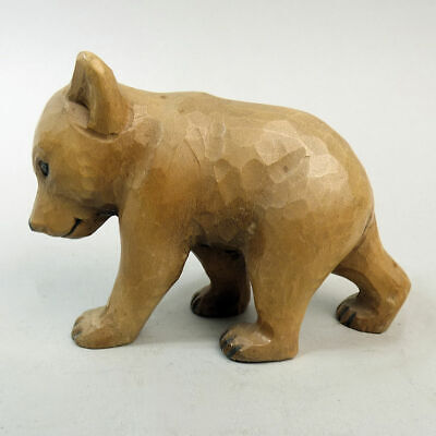 Lovely Old Black Forest Carved Figure Of A Bear Walking C.1920