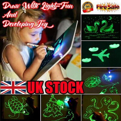 UK Draw With Light-Fun And Developing Toy Luminous Draw Kids Sketchpad Board-Toy