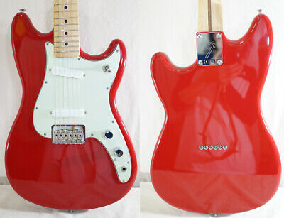 2016 Fender Mexico DUO SONIC Trino Red *Mint* W/GB Free International Shipping