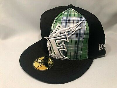 info for 531d3 9e40c MIAMI MARLINS SP PLAID NEW ERA 59FIFTY MLB FITTED Cap Hat Size 7 1 2