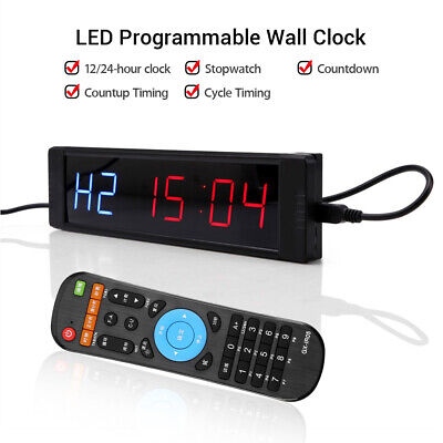Programmable Timer Training Stopwatch Clock Digital For Fitness Gym Tabata Yoga
