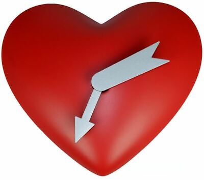 Wall Clock Heart Shaped With Motion Gift Present Valentine's Decor Romantic Love