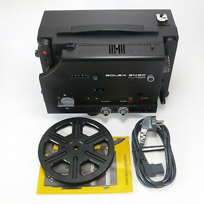 Bolex SM80 MS Super8 and Single8 Dual Track Sound Projector 18 & 24fps - Tested