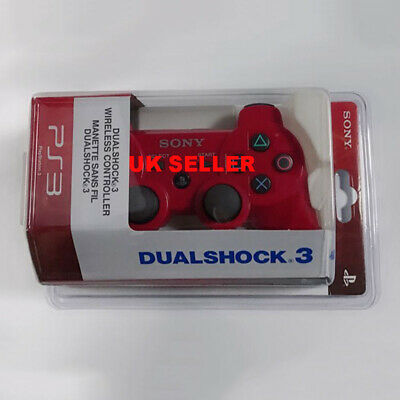 Red PS3 Dualshock Bluetooth Wireless Gamepad Controller For Play Station 3