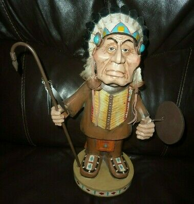 Wood Wooden Carved Native American Indian Doll