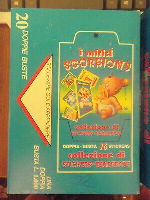 "Italian Sgorbions GARBAGE PAIL KIDS i Mitici ""Stamps"" Full 20 Pack Box - Awesome"