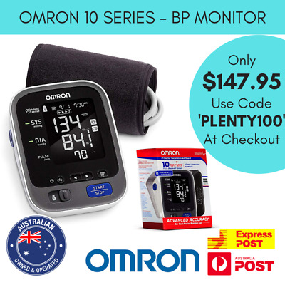 Omron 10 Series Wireless Bluetooth Upper Arm Blood Pressure Monitor 2 User BP786
