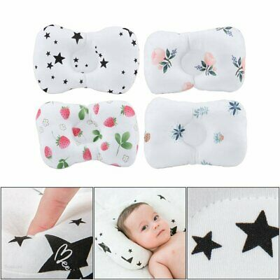 Newborn Baby Cot Pillow Prevent Flat Head Positione Cushion Sleeping Support SQ