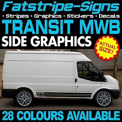 Ford Transit Mwb Graphics Stickers Stripes Decals Sport St Day Van Camper 2.0 D