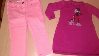 Lot taille 12 mois 1 an fille : robe MARESE TBE et pantalon in extenso neuf