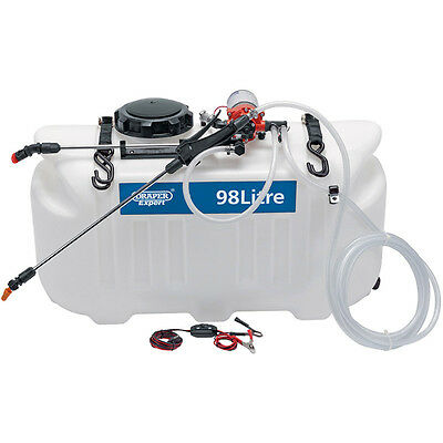 Draper 98L broadcast and spot sprayer Free Post  -ind video review- 70 PSI !!