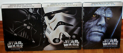 Star Wars Saga Iv-V-Vi New Sealed Steelbook 3 Blu-Ray Action (Sleeveless Open R2