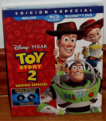 Toy Story 2 Edition Special Disney Combo Blu-Ray+DVD W/ Slipcover (Unopened) R2
