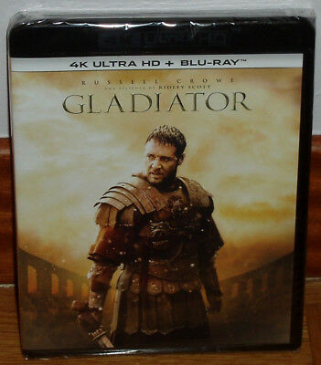Gladiator 4 Disques 4k Ultra HD + Blu-Ray + Br Extras Neuf Scellé (sans Ouvrir)