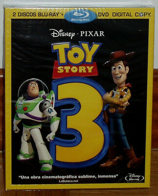 Toy Story 3 Combo 2 Blu-ray + DVD Disney New Sealed Slipcover (Unopened) R2