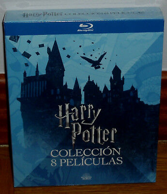 Harry Potter Collection Complete 8 Blu-Ray Sealed New (Sleeveless Open) R2