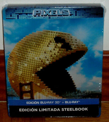 Pixels Steelbook Edition Limitée Blu-Ray 3D + Blu-Ray Neuf Action R2