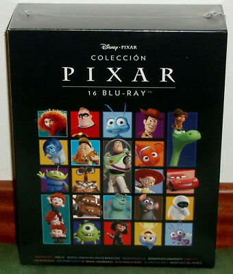 Collection Pixar Pack 16 Blu-Ray New Disney Animation New Sealed (Unopened)
