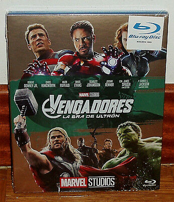 Avengers Age Of Ultron Slipcover Blu-Ray Neuf Action (sans Ouvrir) R2