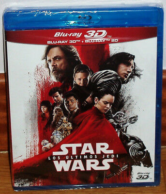 Star Wars the Last Jedi Blu-Ray 3D +2 Blu-Ray New Sealed (Unopened) R2
