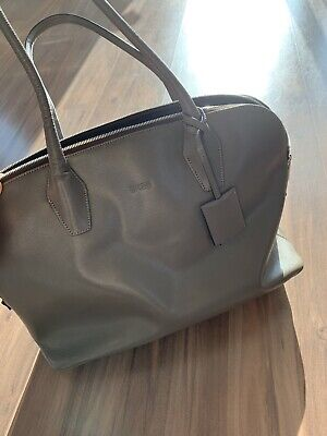 333a9a931dbe5 BREE Business Laptop Schulter Tasche Sarafino Leder Taupe NP 449€