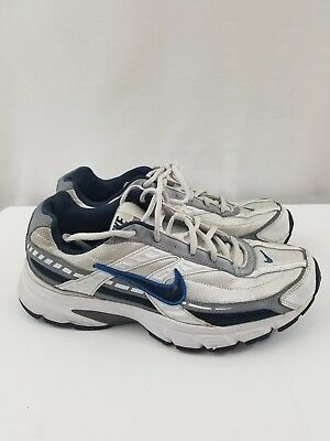 9615b623a Nike Mens Initiator White Obsidian Gray Navy US Size 8.5 Running Shoes
