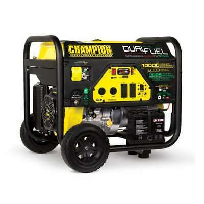 Champion 8000 Watt Quiet Electric Start RV Ready Dual Fuel Generator (For Parts)