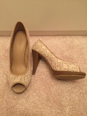 5TH AVENUE Fransen Pumps High Heels weinrot Leder