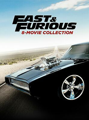 Fast & Furious 8-movie Collection DVD Paul Walker NEW