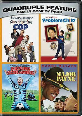 Kindergarten cop / Problem child / Kicking and screaming / Major Payne DVD  NEW