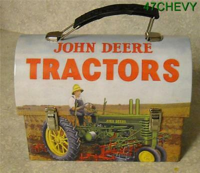 New Old Stock-2007-Tin-John Deere Carryall-Lunchbox-Toy Carrier-New- (I)