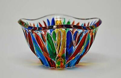 Murano Glass Fire Bowl, Made in Italy