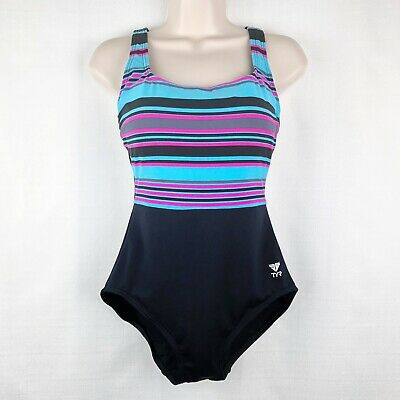6d5d12c4dbed7 NEW NWT WOMENS TYR OMBRE STRIPE DURAFAST CHLORINE PROOF CONTROL FIT ...