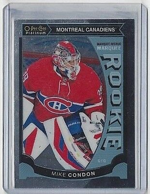 2015-16 Mike Condon O-Pee-Chee Platinum Marquee Rookie Card #M-32 ~ Canadiens