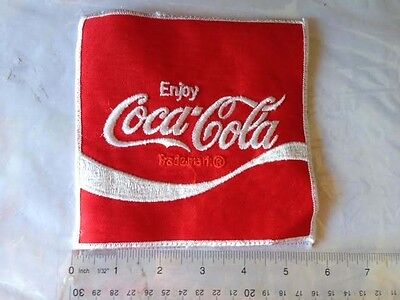 """NOS COKE VINTAGE COCA-COLA EMBROIDERED 3/"""" x 3/"""" PATCH"""