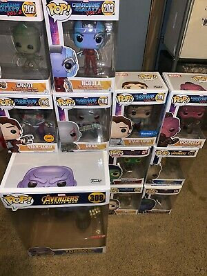 Funko Guardians Of The Galaxy Pop Lot (Big Thanos, Star Lord Chase, 11 Total)