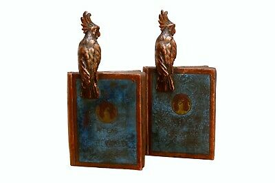 Antique 1922 'Atlas of the World' Bronze Bookends, a Pair