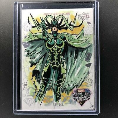 2016 Marvel Gems HELA Sketch Dominic Racho 1/1 GS-16