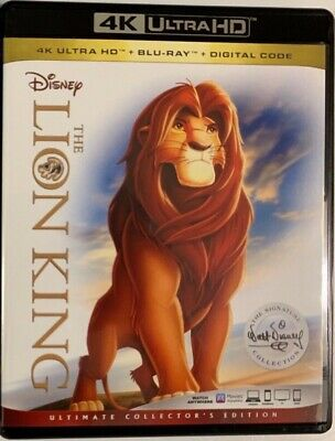 Disney The Lion King 4K Ultra Hd Blu Ray 2 Disc Set Ultimate Collectors Edition