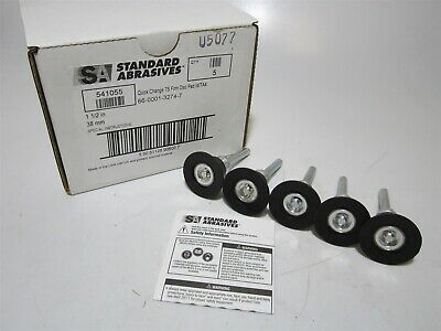 "Standard Abrasives (541055) 1-1/2"" Quick Change TS Firm Disc Pad w/ TA4 Lot of 5"