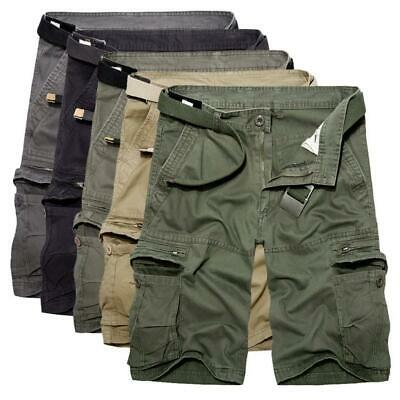 Mens Cargo Shorts Pants Chino Military Army Summer Casual Combat Bottoms Trouser