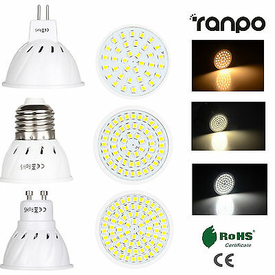 AMPOULES LED SPOT Light 3W 5W 7W MR16 GU10 E27 2835 SMD Lumière 220V 12V 24V