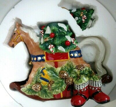 Waterford Holiday Heirlooms Rocking Horse, Limited Edition #1898, Teapot  W/ Box