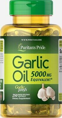 Puritan Pride Garlic Oil 5000 mg - 100 Rapid Release Softgels - Cardiovascular