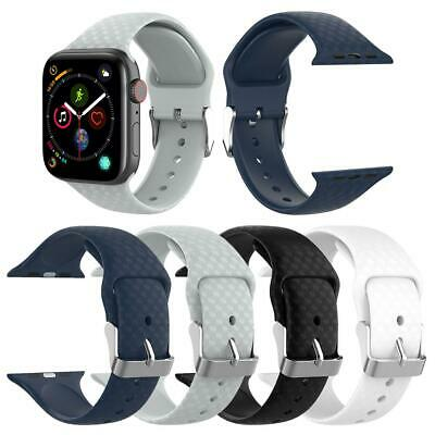 Silicone 3D Sport Watch Band Bracelet Strap Kit for Apple Watch 1/2/3/4 38/42mm