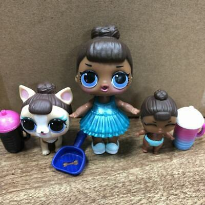 Lot 3 LOL Surprise Doll LiL MISS BABY Family glam SERIES 2, Miss Puppy pets toys