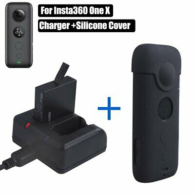 Battery Charging Dock + Silicone Protective Cover for Insta360 One X